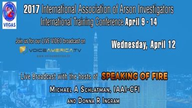Speaking of Fire at the IAAI International Training Event Hour 1 Live stream
