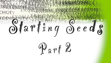Starting Seeds: Part 2