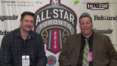 Jeff Spenard and Matt Fish at the 2016 NBA All Star Game
