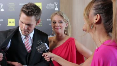 Scott Clifton and Kim Matula at 2012 Emmys