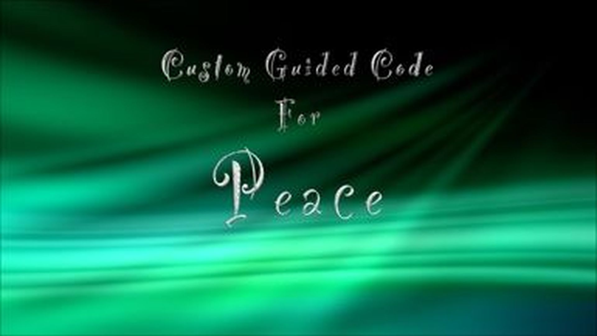 Custom Guided Code for Peace