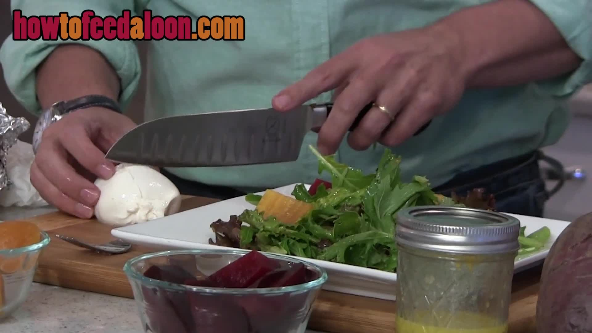 How to Make Roasted Beet with Burrata Salad