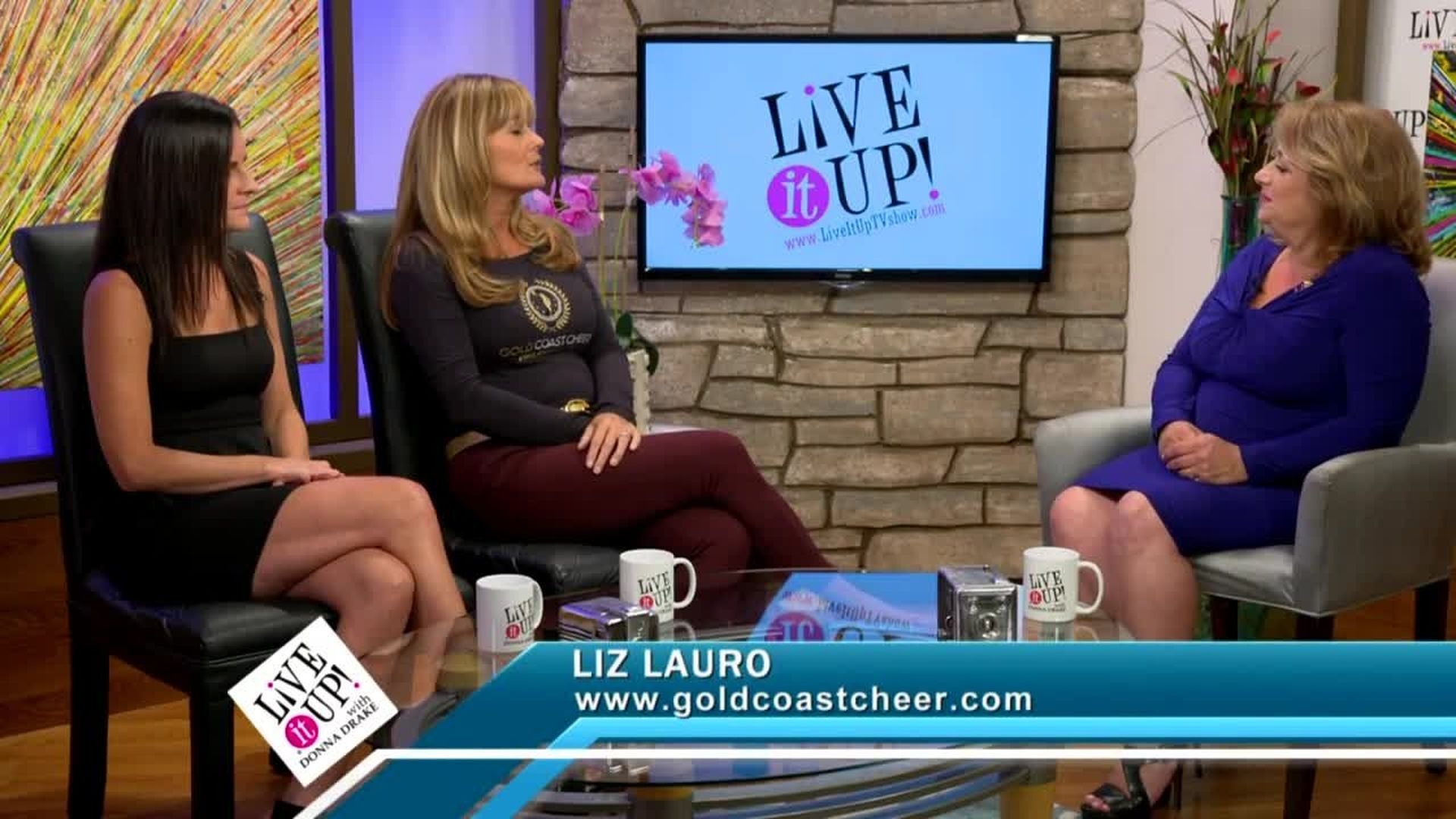 Live it Up with Donna Drake and Cheerleaders for Youth -  Liz Lauro and Tara Beal
