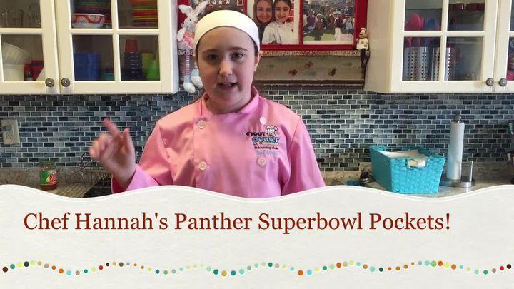 Chef Hannah's Panther Super Bowl Pockets!