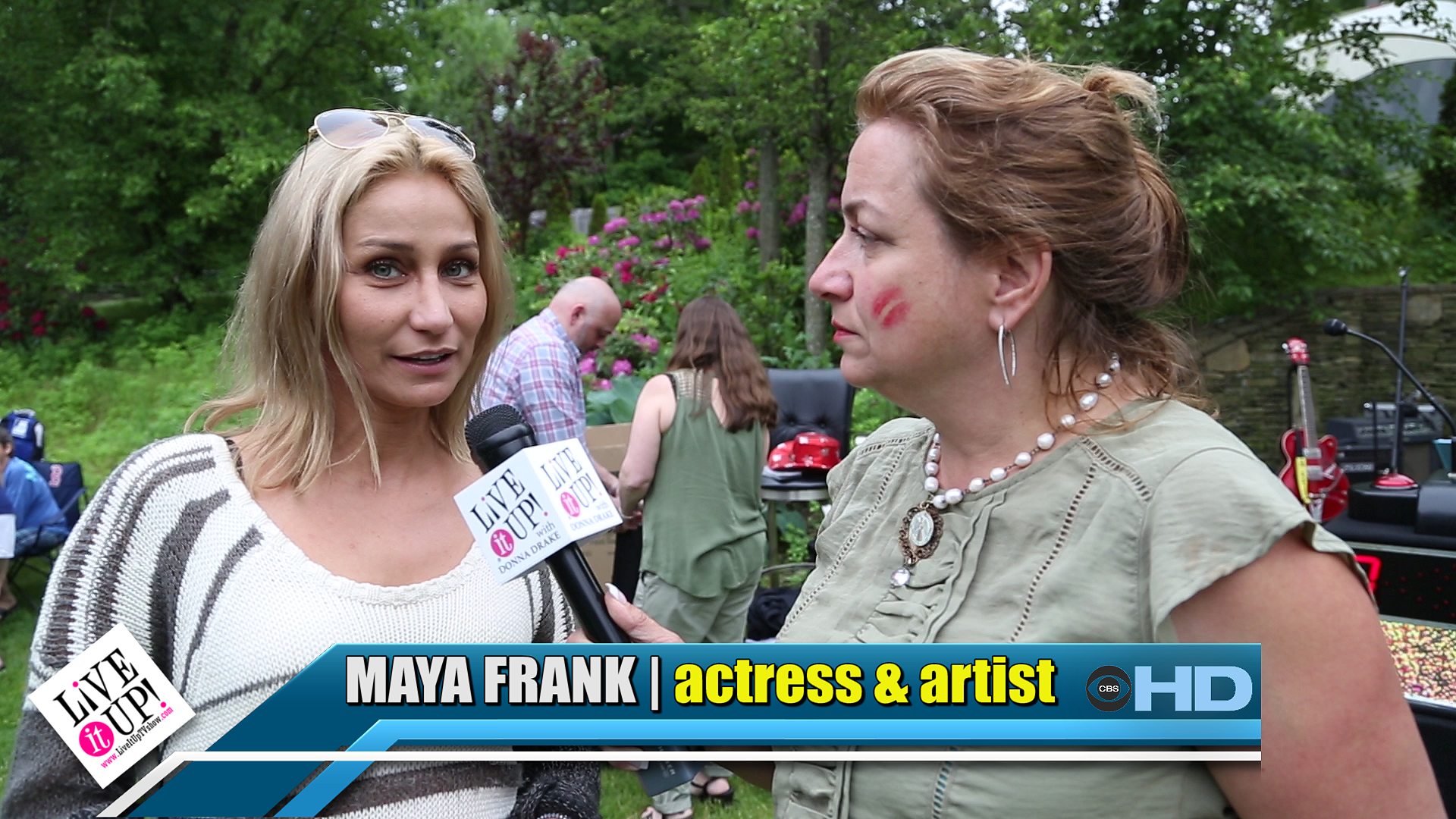 Maya Frank on Live It Up with Donna Drake - ART FOR CAUSE