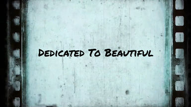 DEDICATED TO BEAUTIFUL (Official Music Movie - Director's Cut)