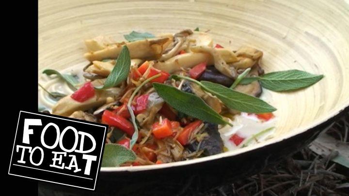 FOOD TO EAT - ASIAN MUSHROOM, COCONUT & SAGE NOODLE SOUP