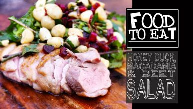 Honey Duck, Macadamia and Beet Salad