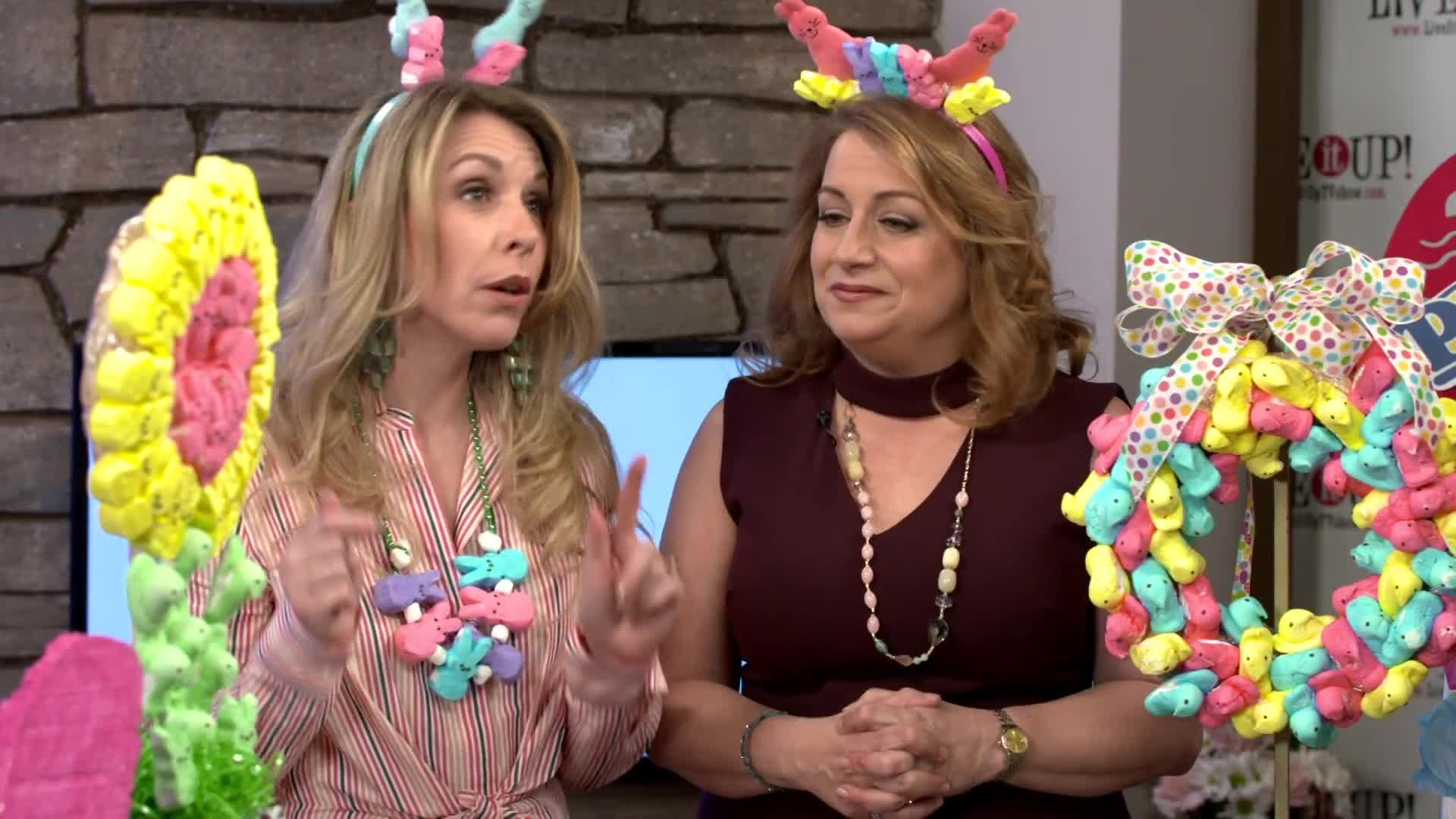 Live it Up with Donna Drake and Laura Mastriano PEEPS, Easter 2018, DIY