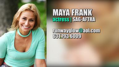 MAYA FRANK - actress SAG.AFTRA