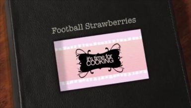 Flour Power: Football Strawberries