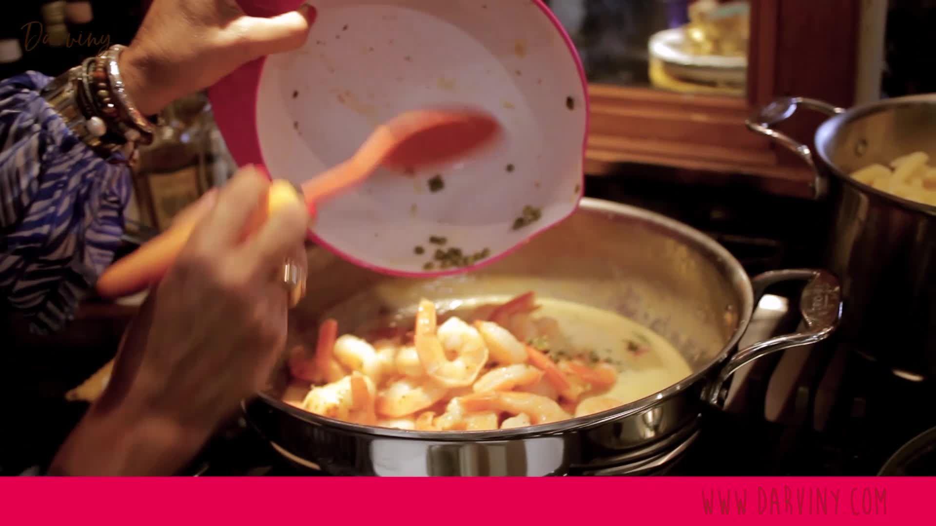 The Love, Darviny Show - How to Make Sauteed Shrimp & Pasta- trailer