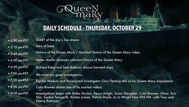 Queen Mary Live Day 1 Recording