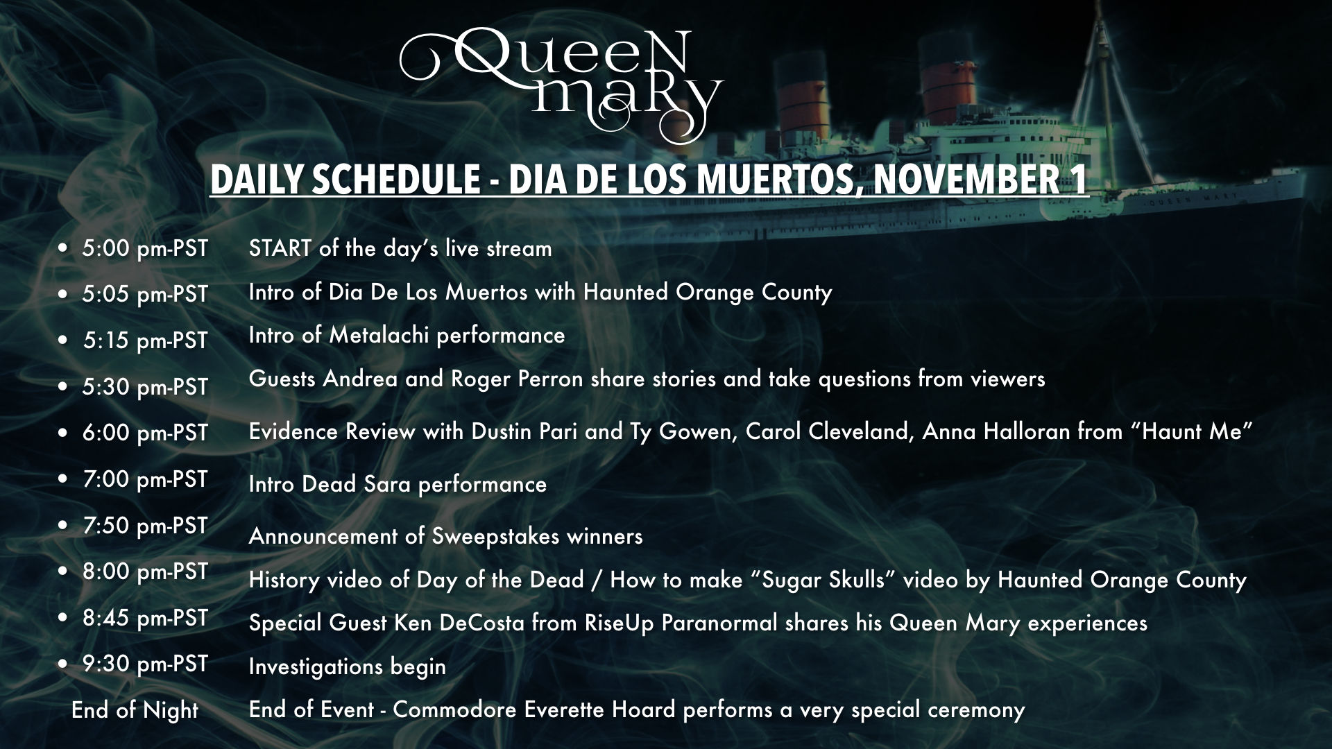 Queen Mary Live Day 4 Edited Recording