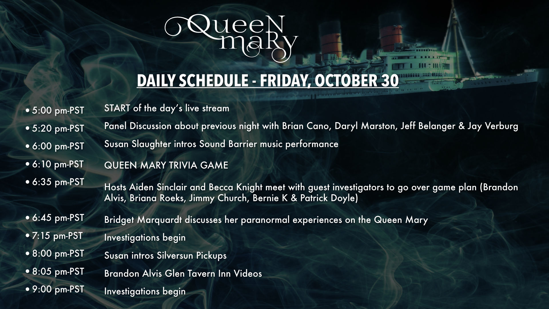Queen Mary Day 2 Edited Recording