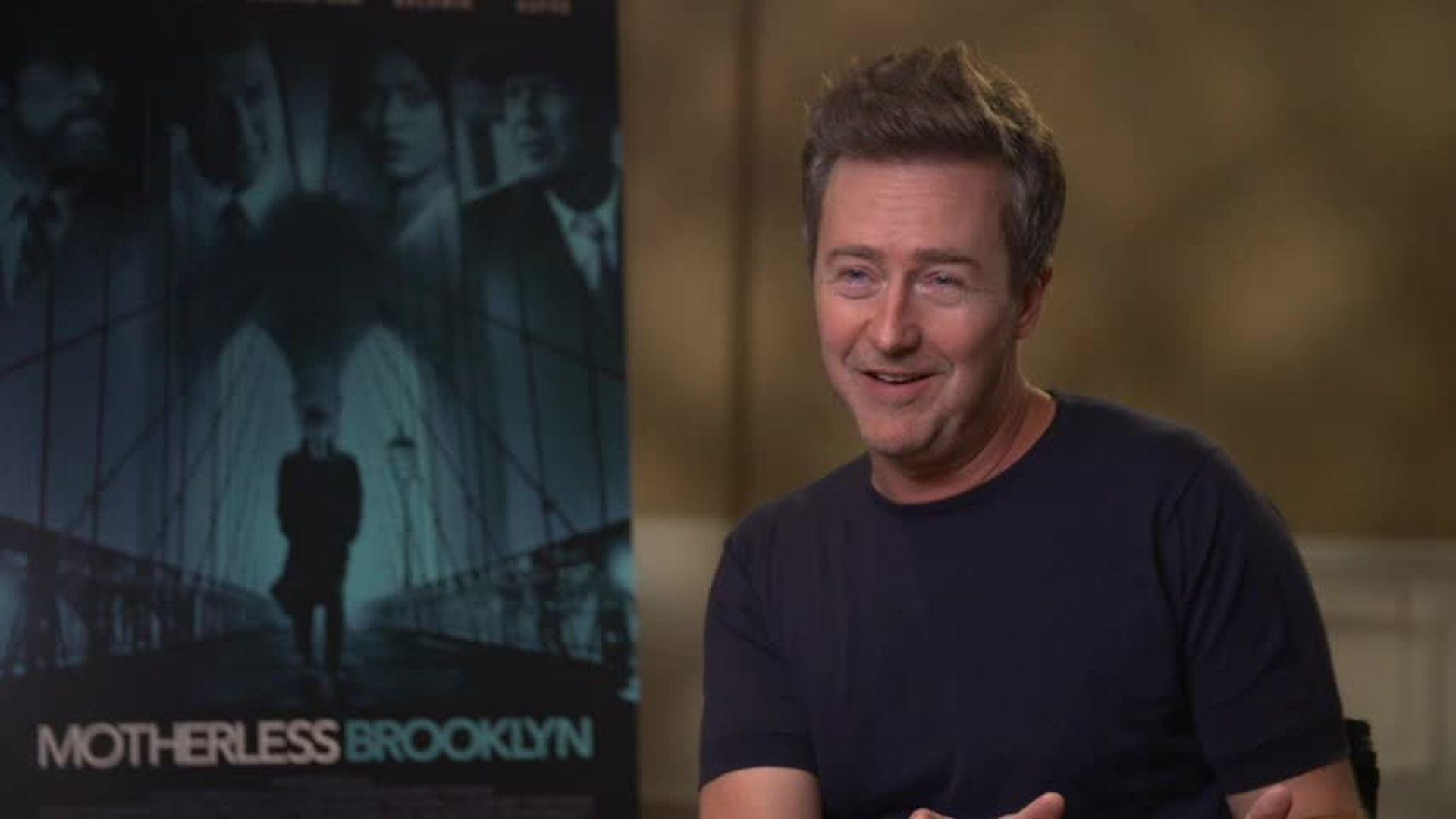 Edward Norton Talks Writing, Directing, and Starring in 'Motherless Brooklyn'