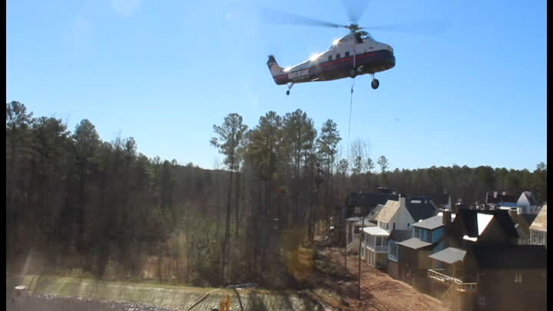 Helicopter Geothermal Installation