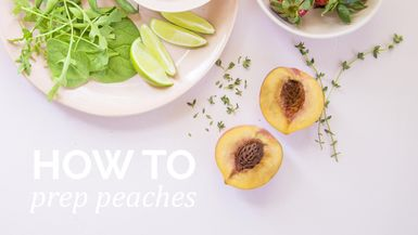 How to : Prep peaches