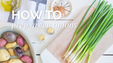 How to : Prep green onion