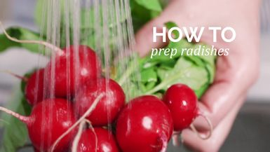 How to : Prep radishes
