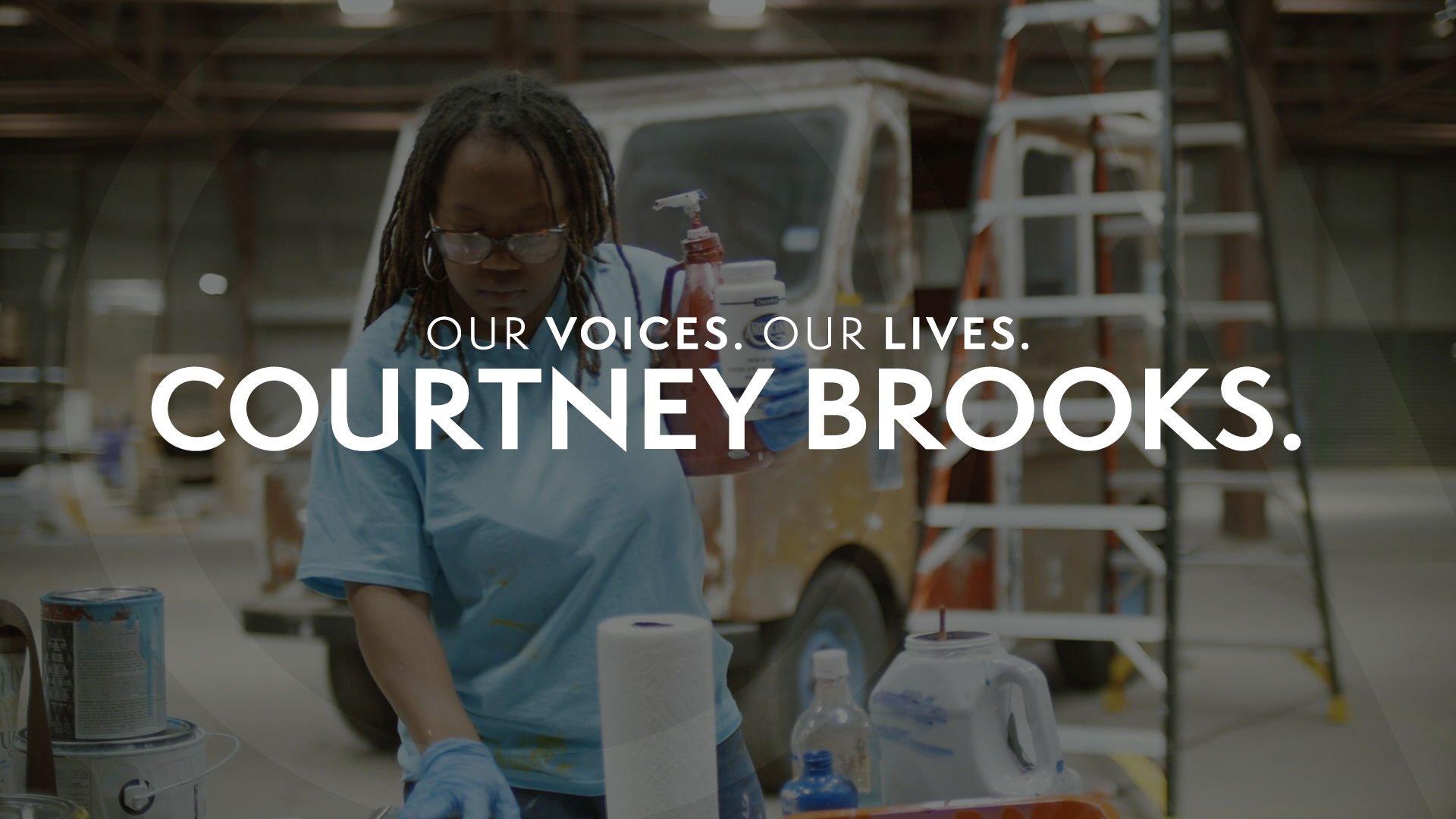 Our Voices. Our Lives. presents COURTNEY BROOKS.
