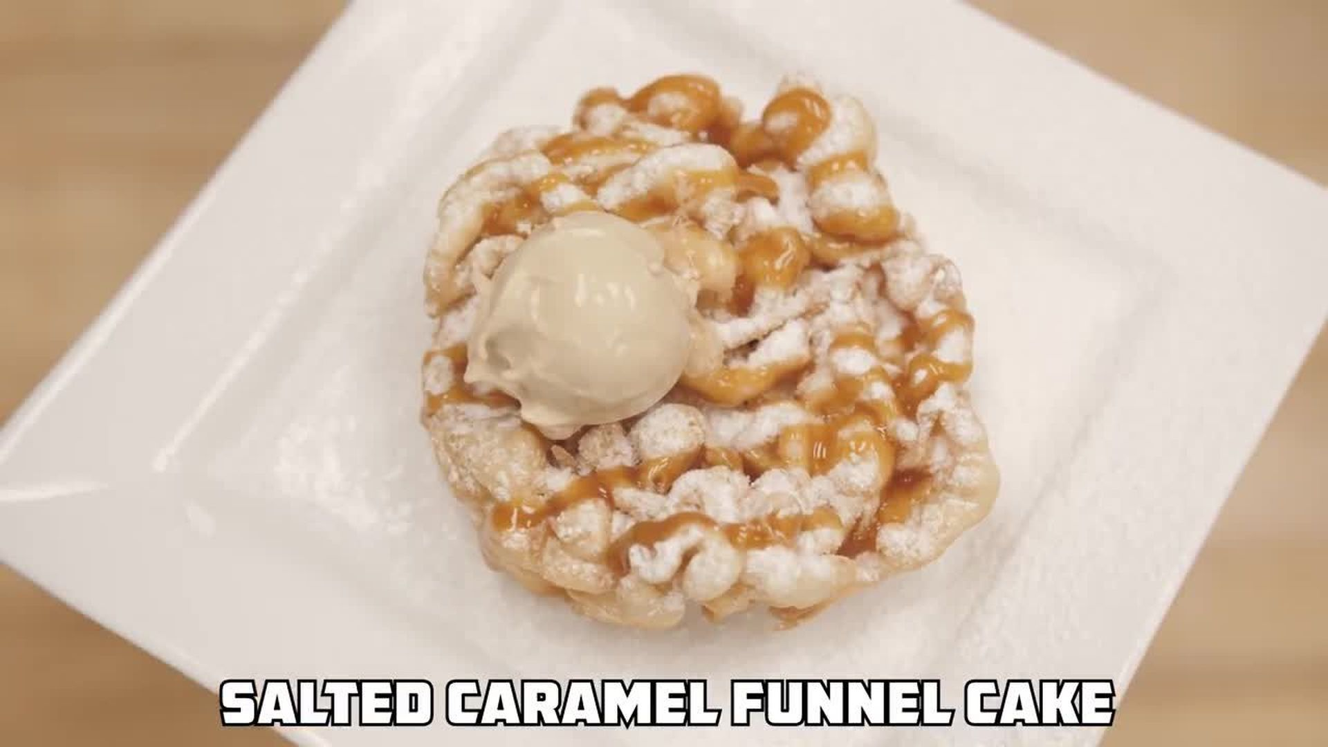 Will It Doughnut: How to Make A Salted Caramel Funnel Cake