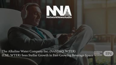 NetworkNewsAudio News-The Alkaline Water Company Inc. (NASDAQ: WTER) (CSE: WTER) Sees Stellar Growth in Fast-Growing Beverage Space