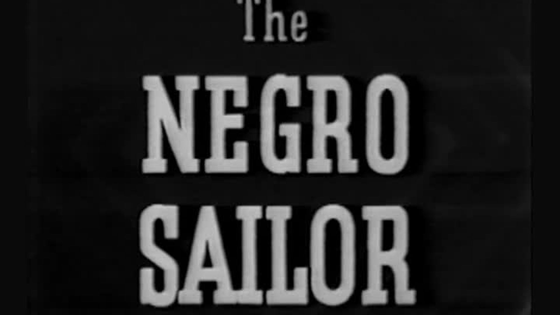 The Negro Sailor