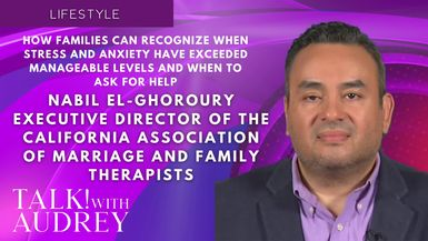 TALK! with AUDREY - Nabil El-Ghoroury, Executive Director of The California Association of Marriage and Family Therapist - How Families Can Recognize When Stress and Anxiety Have Exceeded Manageable Levels and When to Ask for Help