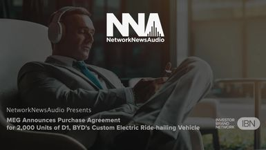 InvestorBrandNetwork-NetworkNewsAudio News-Ideanomics (NASDAQ: IDEX) Division Announces Purchase Agreement for 2,000 Units of D1, BYD's Custom Electric Ride-hailing Vehicle