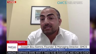 Joseph Bou Samra, Founder and Managing Director of GMCS MENA, A Dot Com Magazine Exclusive Intervie