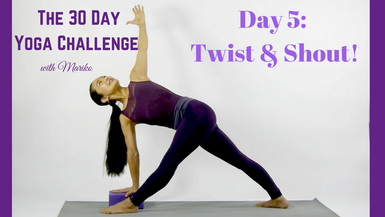 Day 5 of The 30 Day Visionary Yoga Challenge: Twist & Shout!