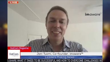 Jani Tuomi, Co-founder, imaware, A DotCom Magazine Exclusive Interview
