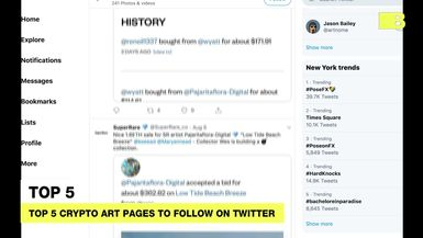 Top 5 crypto art pages to follow on Twitter