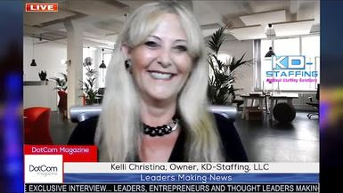 Kelli Christina, Owner, KD-Staffing, LLC. A DotCom Magazine Exclusive Interview