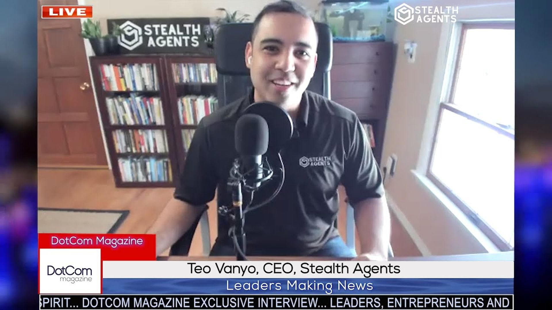 Teo Vanyo, CEO, Stealth Agents, A DotCom Magazine Exclusive Interview