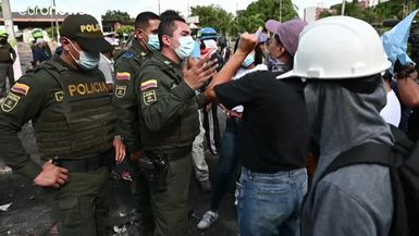 Paro 12M en Colombia | Una multitudinaria protesta en Bogotá contra Iván Duque