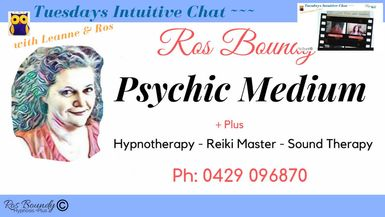 Tuesdays Intuitive Chat with Leanne & Ros - 28th January 2020  Join in for an hour of Fun & Ch