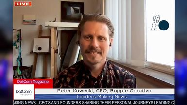 Peter Kawecki, CEO, Bapple, A DotCom Magazine Exclusive Interview