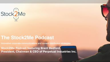 Stock2Me-Stock2Me Podcast featuring Brent Bedford, President, Chairman & CEO of Perpetual Industries Inc. (PRPI)