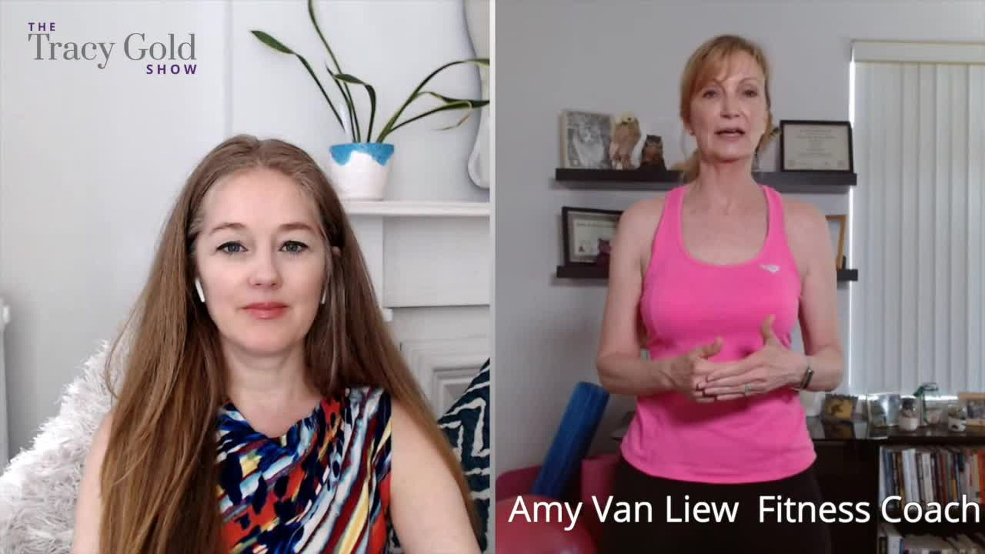 How to Get Fit Over 50 With Amy Van Liew Part 1 - Tracy Gold Show