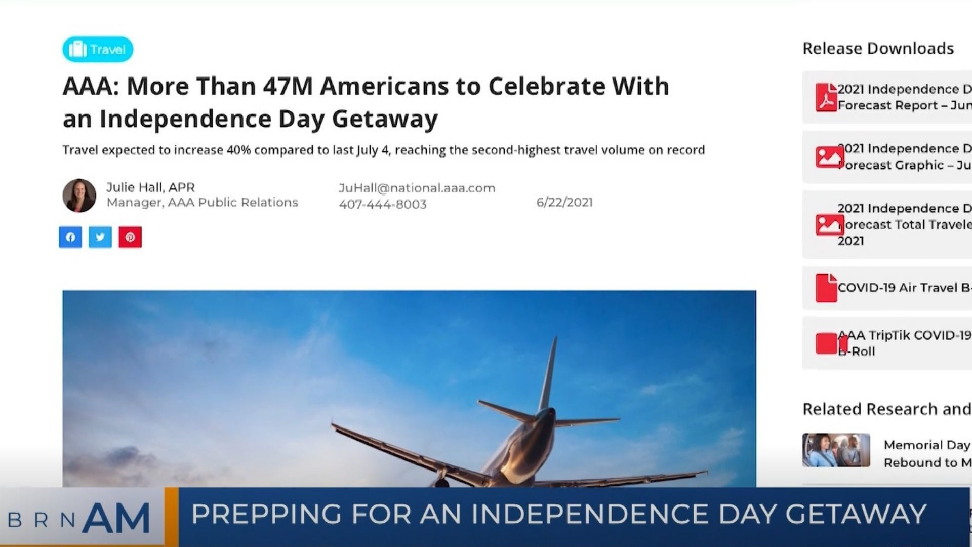 BRN AM | Prepping for an Independence Day Getaway