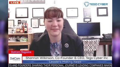 Shannon Wilkinson, Co-Founder & CEO, Tego Cyber Inc, A DotCom Magazine Exclusive Interview