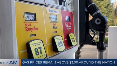BRN AM   Gas prices remain above $3.00 around the Nation