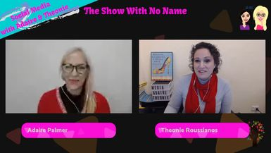 Welcome to 'The Show with No Name' Series 1, Episode 17, 20 June 2019. Dreamed up by Theonie Roussi