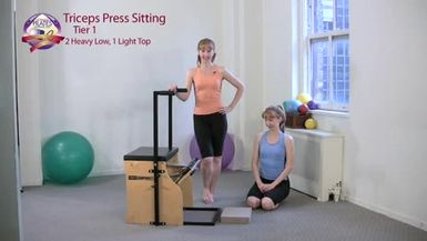 Triceps Press Sitting 1