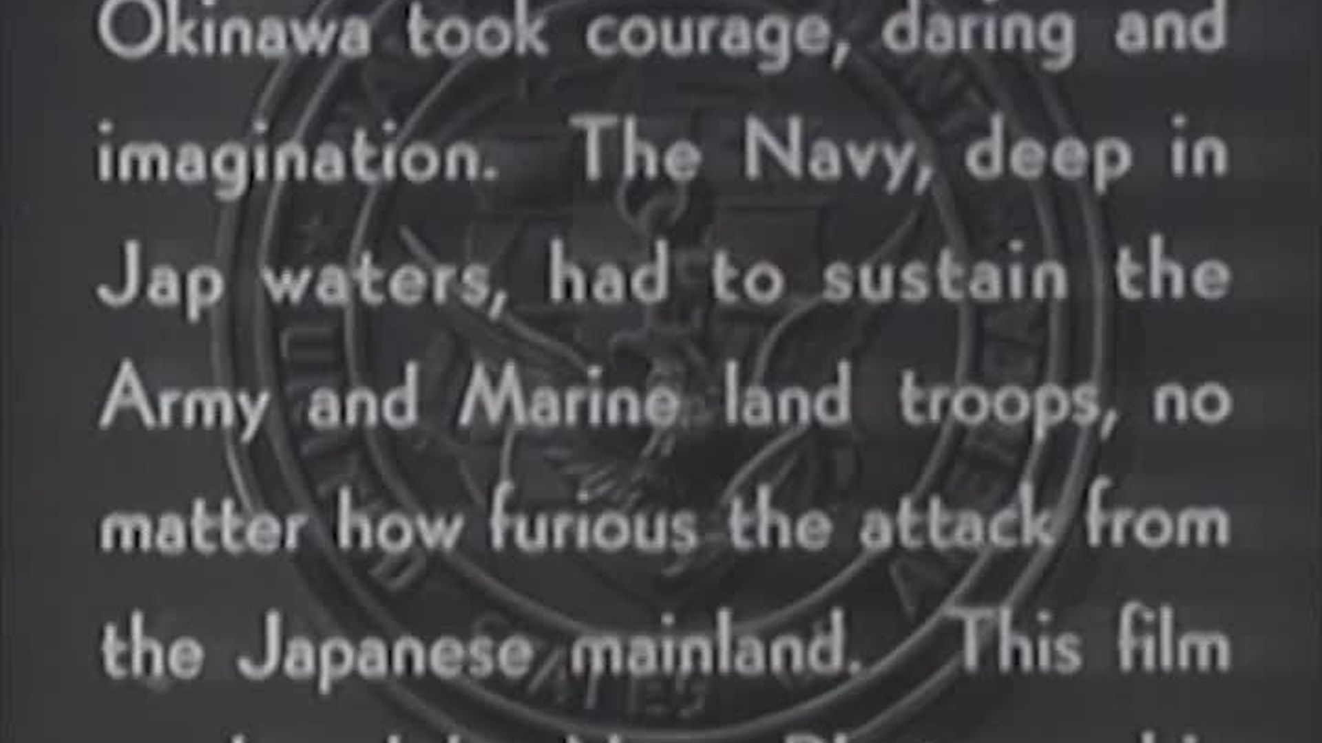 """Combat Camera: The Pacific- """"Fleet that Came to Stay (Okinawa)"""""""