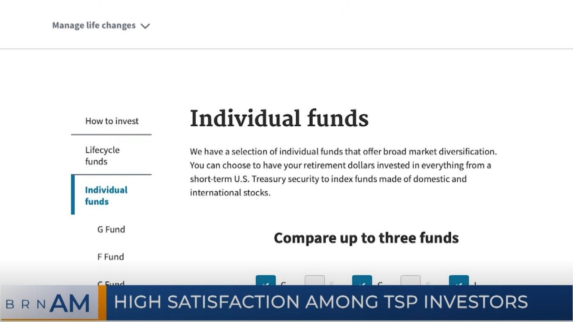 BRN AM   High satisfaction among TSP Investors
