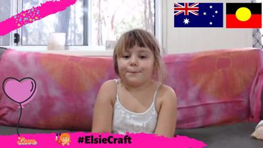 Elsie shows us how to do Australia Day Flags #ElsieCraft