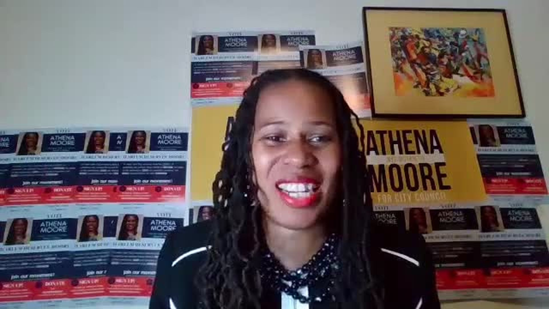 Athena Moore   Democratic NYC Council Candidate for District 9 in Central Harlem, NY